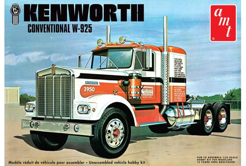 Kenworth W925 Conventional Item No: AMT1021 Categories: 1:24 & 1:25, AMT, AMT Model Kits, Model Kits, Trucks