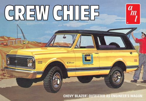"1972 Chevy Blazer Crew Chief Item No: AMT897 UPC: 8-49398-00738-9 Back by popular demand! It's the feature-packed 1972 Chevy® ""Crew Chief"" Blazer™!"
