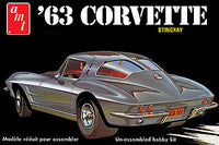 1963 CORVETTE This is the 1/25 Scale 1963 Chevy Corvette Plastic Model Kit from AMT