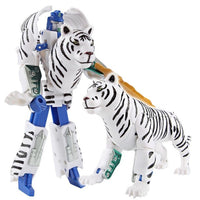 Boys Transformation Robot Zoo Tiger Lion Panda Eagle Elephant Action Figure Plastic Model Kid Adult Education Collection Toys