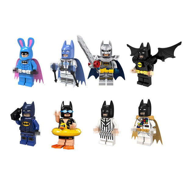Assorted Batman Super Hero 1pc Mini Building Brick Action Figures