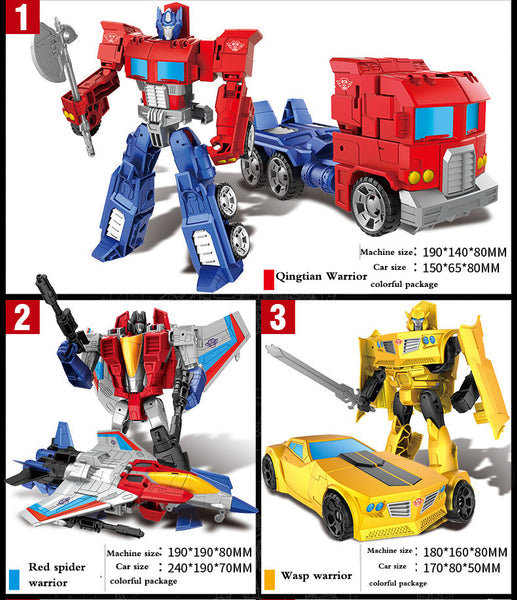 Newest Anime Toys Movie Transforming toy King Kong 5 Cool Action Figure Robot Car Plastic ABS