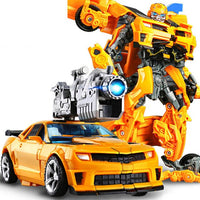 Alloy Models Transformation Movie 5 Robot Car Toys Bee Truck Dinosaur Deformation Action Figures Educational Children