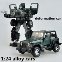 1:24 alloy cars,high simulation deformation car,metal diecasts,transformers,the children's toy vehicles,