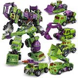 Various options of NBK New Devastator Transformation Boy Toy Oversize Action Figure Robot Car Truck Fire Rescue Excavator Crane Model kid adult
