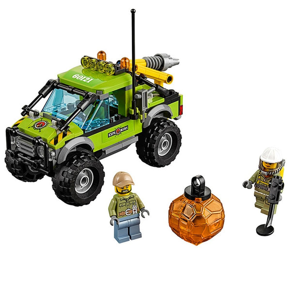 185 pcs 10638 Legoings City Volcano Explorers Volcano Exploration Truck Brick Set Compatible With Lego