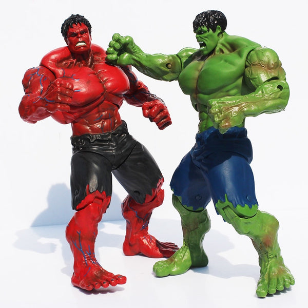 Movie Super Hero The Hulk PVC Action Figure Toy Red & Green Hulk Figures Toys 25CM Great Gift