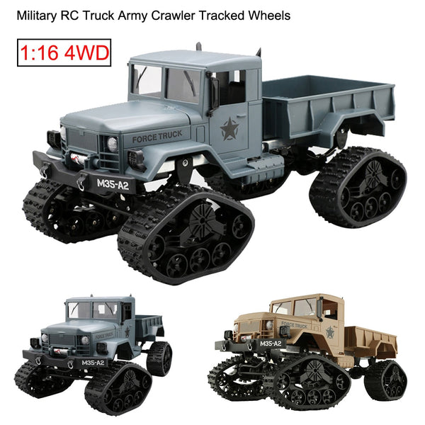 NEW RC Truck Military Army 1:16 4WD Tracked Wheels Crawler Off-Road Car RTR RC Truck Remote Control Car