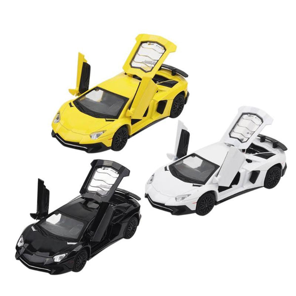 For a Variety of New Alloy Emulated Car Model white/yellow/black Sports Car Vehicle Classic Car Intellect Promoting Toys for Children 13*6*4CM