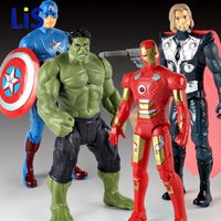 Lis 20cm 2017 New Avengers Toys Light Rotate Iron Man Hulk PVC Action Figure Model Toys Original Box
