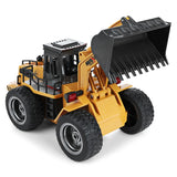 HuiNa Toys 1520 Six Channel 1/18RC Metal Bulldozer Charging RC Car model toys for kids gifts