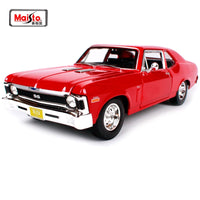 Maisto 1:18 1970 Chvrolet Nova SS Muscle Old Car model Diecast Model Car Toy New In Box Free Shipping 31132