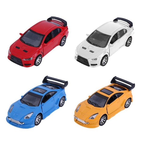 For a Variety of 1:32 Simulation TOYOTA/EVO Motor Car Model Pull Back Sound Light Kids Toys
