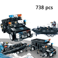 WOMA compatible legoed SWAT city police arms truck car sets model building kits helicopter vehicle blocks