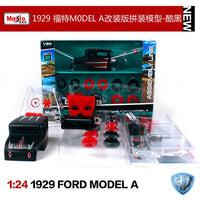 Maisto 1:24 1929 Ford Model A Old car Assembly DIY Diecast Model Car Toy New In Box Free Shipping 39354