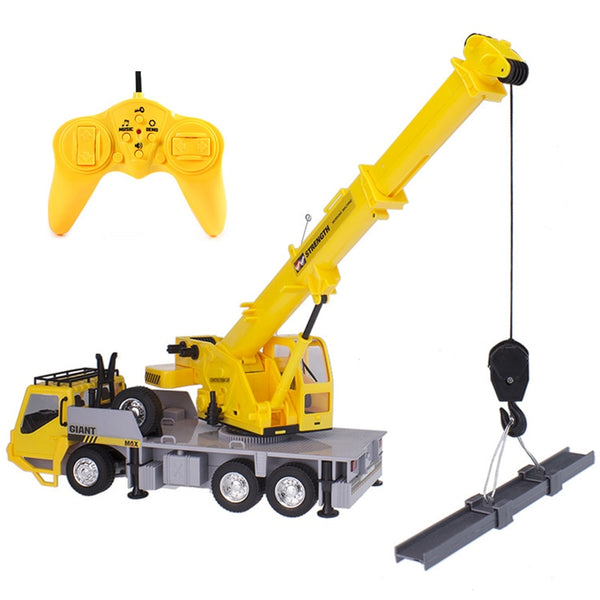 RC hoist Crane model Engineering car Toys for children . Remote control freight elevator