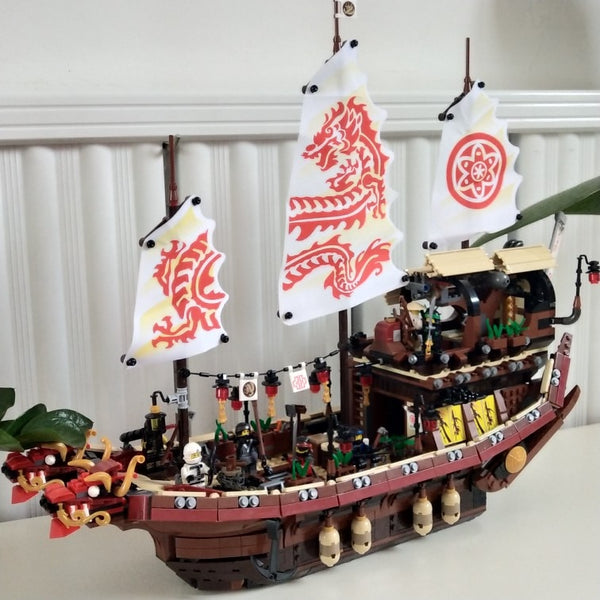 Ninjago Movie Destiny's Bounty Dragon Ship Model Building Brick Set