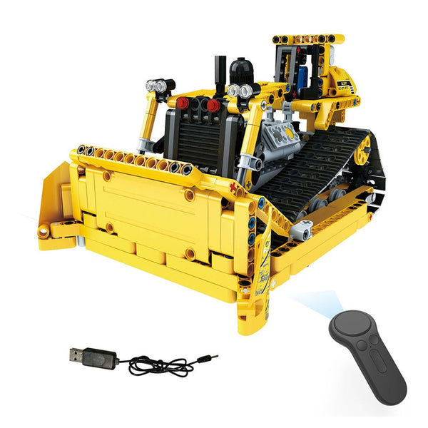 2.4G 4H USB Charging Building Block RC Crawler Bulldozer 535pcs DIY Electric RC