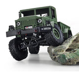 Remote Control 4 Wheel Drive Military Truck In Green Or Yellow Color And Remotr Controler