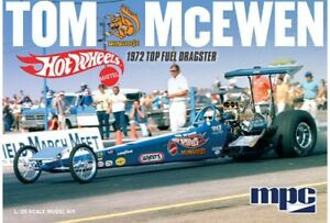 Tom The Mongoose McEwen 1972 Dragster 1/25 scale skill 2 MPC plastic model kit#855