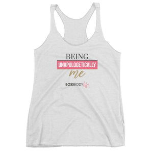"""Being Unapologetically Me"" Tank W/Back Logo"