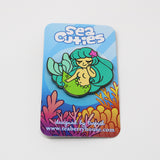 Sea Cuties: Teal Mermaid enamel pin