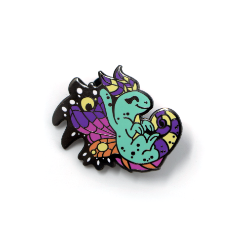 Faerie Dragon enamel pin