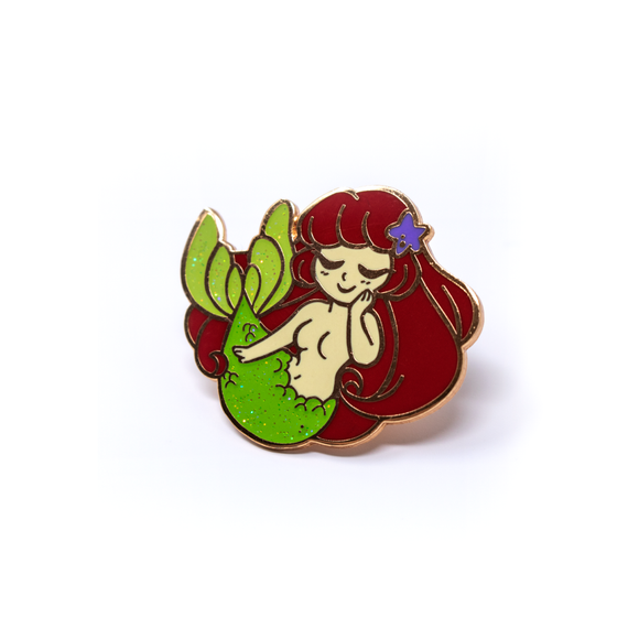 Sea Cuties: Red Mermaid special edition enamel pin
