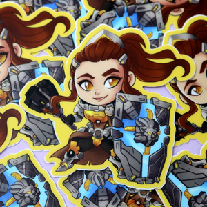 Brigitte Overwatch Vinyl Sticker