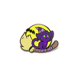 Feline Familiar enamel pin