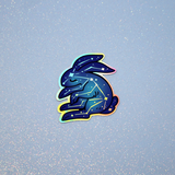 Celestial Bunny Holographic Sticker