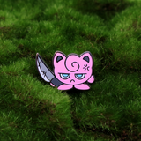 Jigglypuff has a knife Pokemon enamel pin
