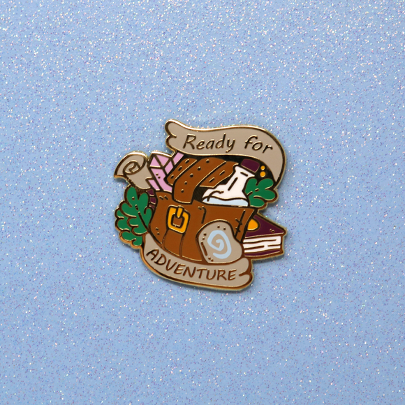 Ready for Adventure Traveler's Backpack Pin - June 2019