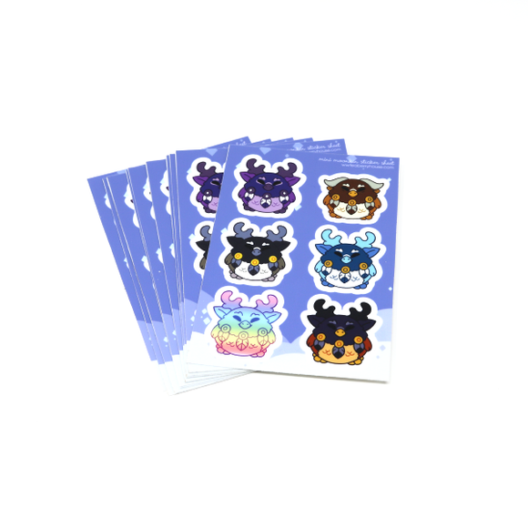 Mini Moonkin Sticker Sheet