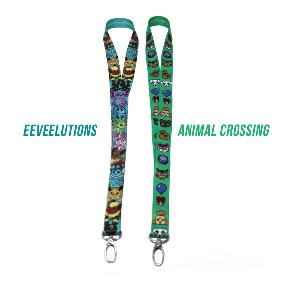 Eeveelution / Animal Crossing Gaming Lanyards