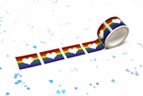 Pride Flag Heart Stamp Washi Tape