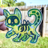 Jelly Cat Transparent Sticker