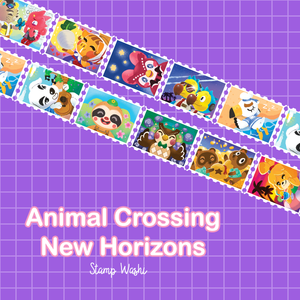 Animal Crossing Postage Stamp Washi Tape