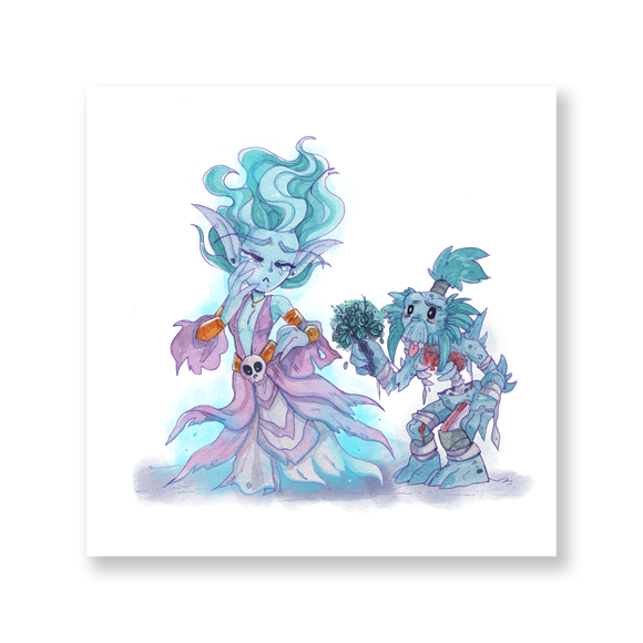 Banshee Love Watercolor Mini Print
