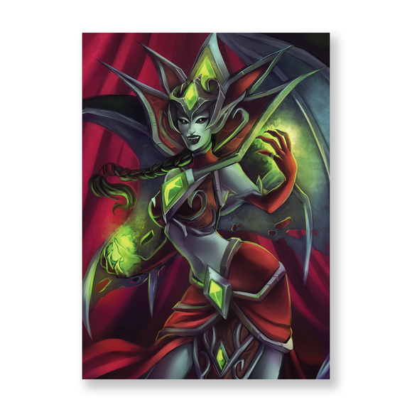Blood Queen Lana'thel (2016) Mini Print