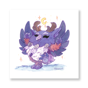 Chibi Moonkin Mini Print