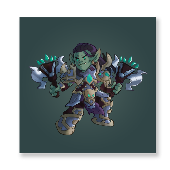 Shadowlands: Draka Chibi Mini Print