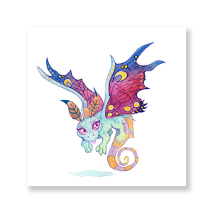 Faerie Dragon Watercolor Mini Print