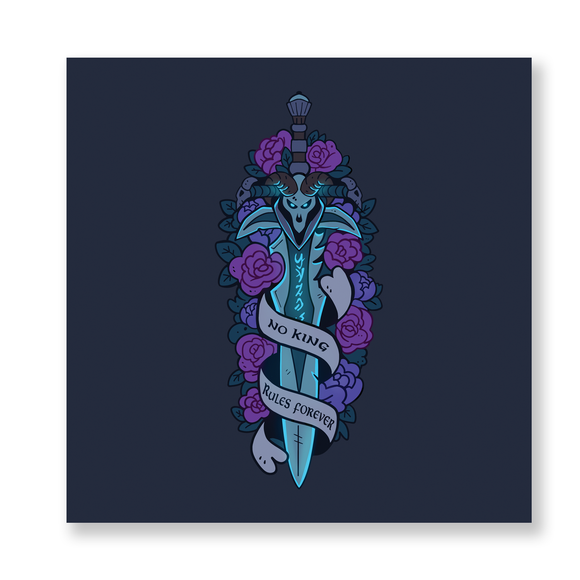Frostmourne : No King Rules Forever Mini Print