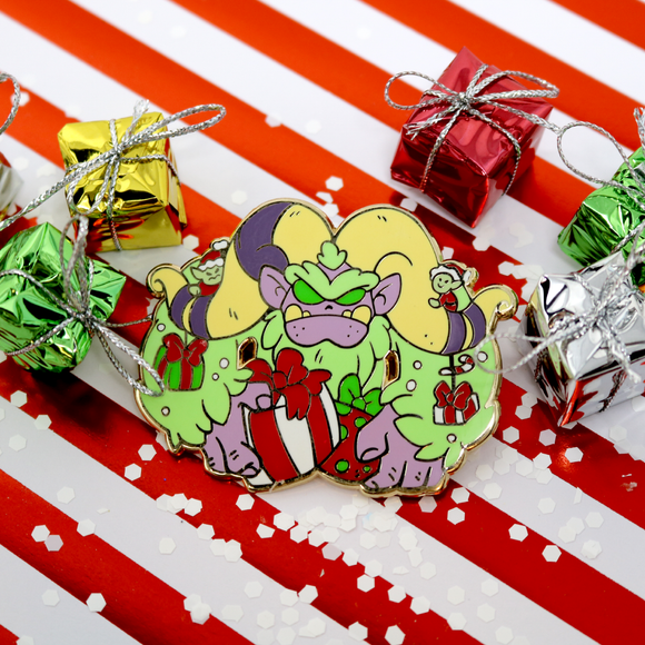 Abominable Greench Patreon Holiday Pin - December 2018