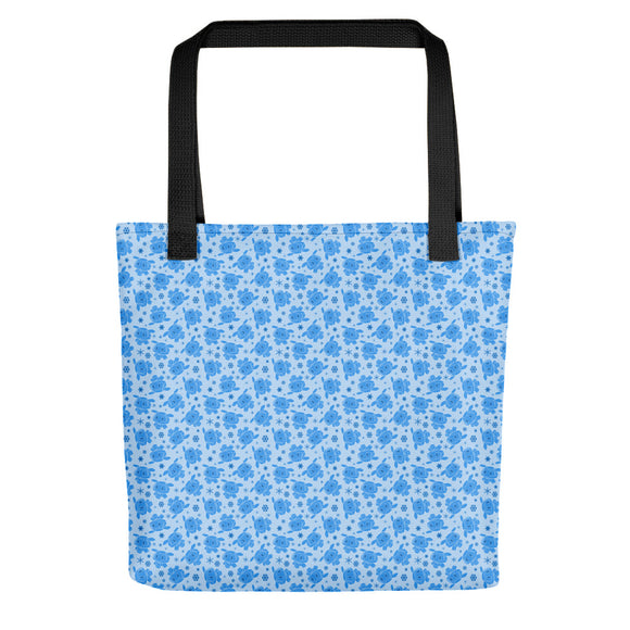 Overwatch inspired Mei Snowball pattern Tote bag
