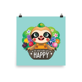 Animal Crossing Do What Makes You Happy Leif Poster