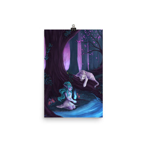 Elune Guide your Path Mate Print