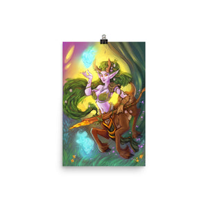 Lunara of the Storm Matte Print