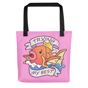 Magikarp Tries His Best Tote Bag